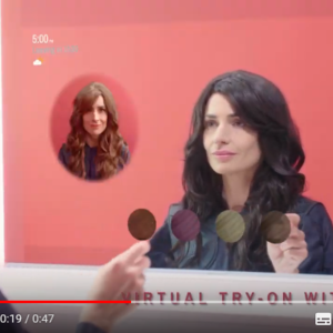 Smart Mirror Wella Professionals Care OS Coty Augmented Reality
