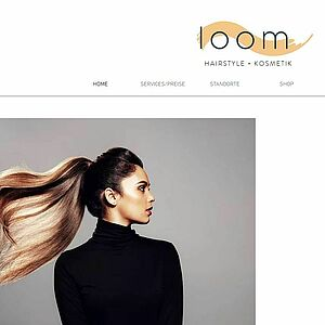 Screenshot: loom-hairstyle.de