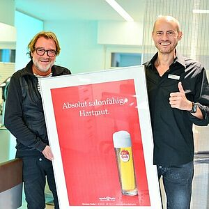 Hartmut Becker, Friseur, Marketing, Slogan, Düren