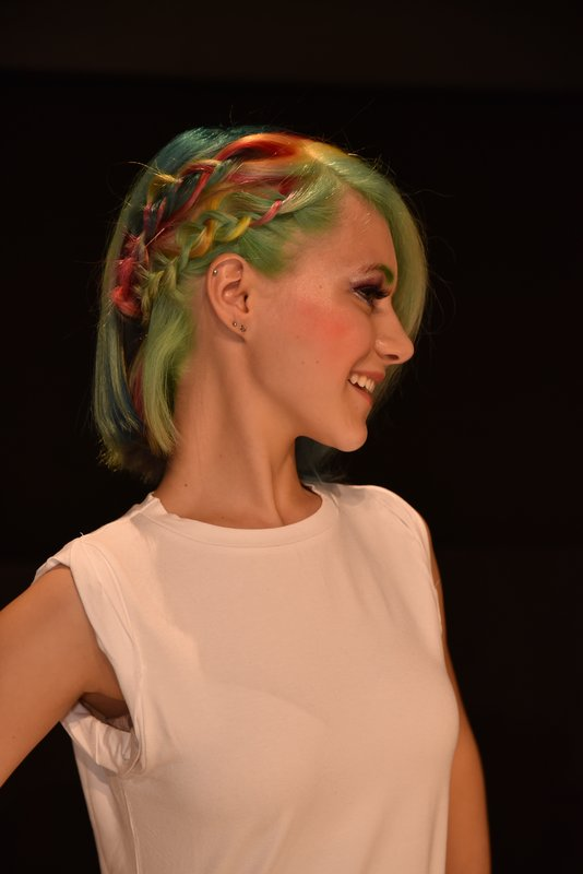 Rainbowcolors, Regenbogenfarben, Frisuren, TOP HAIR Messe, Paul Mitchell